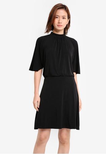 Mango black Ruched Detail Dress MA193AA0T0XPMY_1