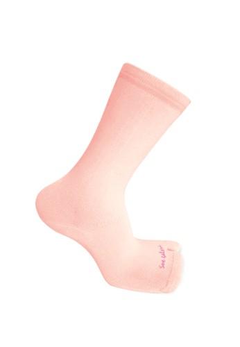 SOXGALERI pink Sox Galeri Anti-Bacterial Cotton Thumb Crew Socks for Women EC590AAF3CF65DGS_1