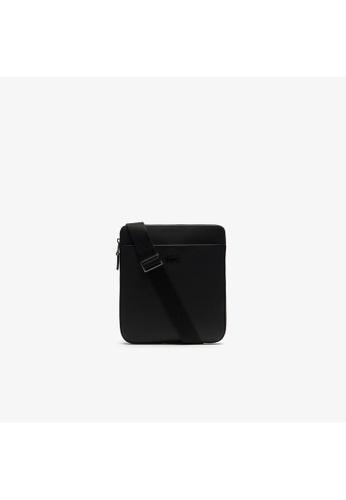 Lacoste black Lacoste Men's Chantaco Matte Piqué Leather Flat Zip Bag-NH2815CE 948A5AC5E52FCBGS_1