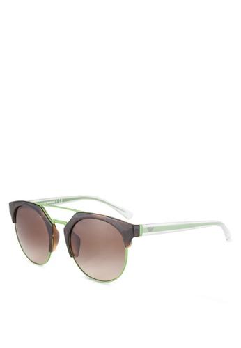 Emporio Armani brown Emporio Armani EA4092F Sunglasses EM212GL0RNIHMY_1