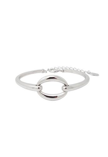 Jaysa Collection silver Palladium Buckle Bracelet JA875AC0FNW0SG_1
