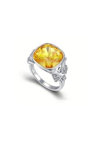 ADORA yellow Swarovski Yellow Ring AD365AC74TZLHK_1