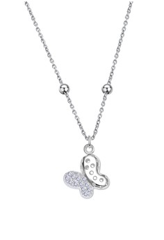 Butterfly Stone Center Chain Necklace