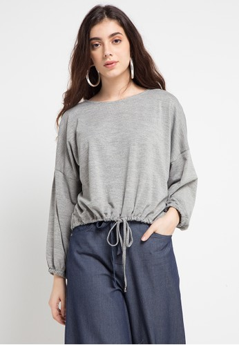 GRAPHIS grey Long Sleeve Top 28BECAAF07EED7GS_1
