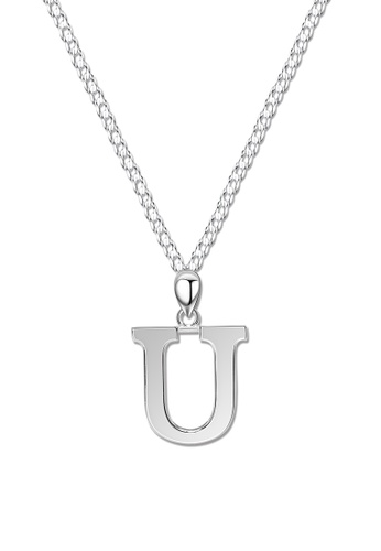 SC Tom Silver silver Letter Pendant with Chain SC872AC0J8MPPH_1