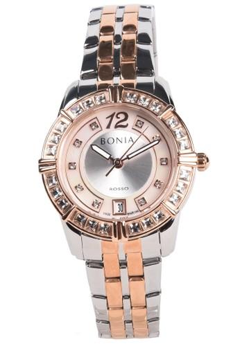BONIA silver Bonia - Jam Tangan Wanita - Rosegold Silver - Stainless Steel Bracelet - BNR146-2655S F46B5ACA51CD08GS_1