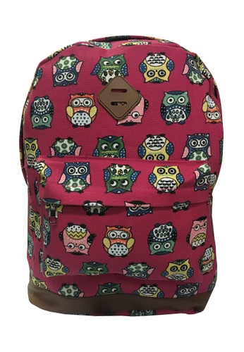 TCWK pink TCWK Women Canvas Backpack 3DA4DAC6943C31GS_1