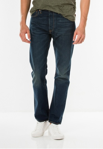 Levi's blue 501® Original Fit Performance Strong Jeans LE843AA0FWOMSG_1