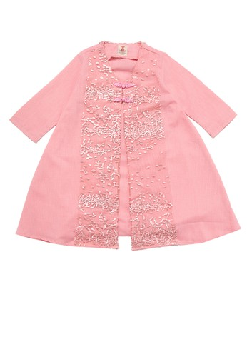 Tiny Button pink Girl Sowing Lace Standart Dress 9C579KA856DB5DGS_1