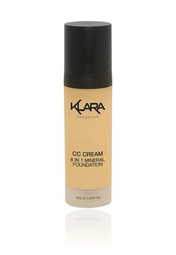 KLARA COSMETICS beige CC Cream 8 In 1 #4 - Medium/Dark B1943BED1FBC77GS_1