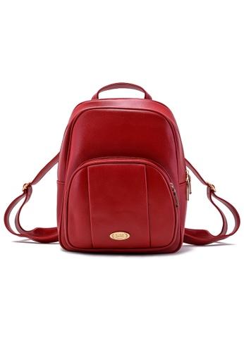 Vince red Korean Designed Minimalist BackPack ( Red ) VI456AC61URMMY_1