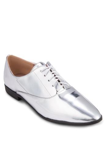 亮面低根牛津鞋zalora時尚購物網的koumi koumi, 女鞋, 鞋