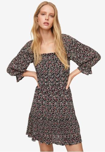 Mango black Floral Print Dress 31568AA58E5162GS_1