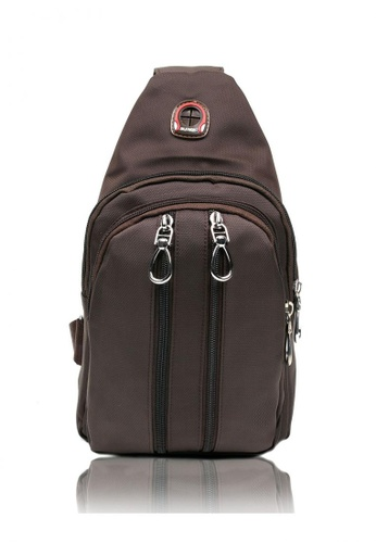 Attraxion Men's and Accessories brown Kieth Crossbody Bag for Men A6122AC3775E8EGS_1