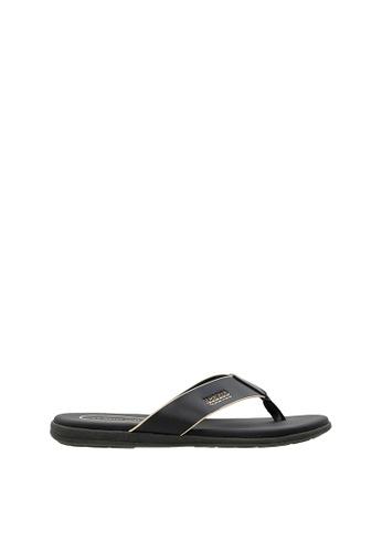 SEMBONIA black Men Synthetic Leather Sandal 24426SHE1C3CF2GS_1