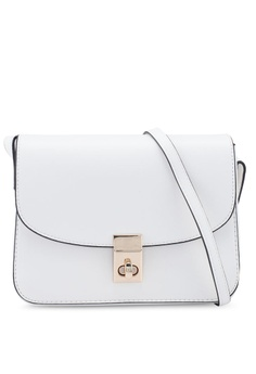 6ea9654f4 FOREVER 21 white Front Flap Crossbody Bag 8CF44AC50B8428GS_1