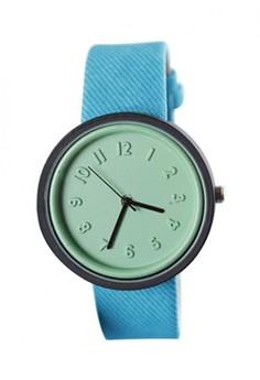 Lady's Fashion Colorful Jelly Silica Gel Strap Watch