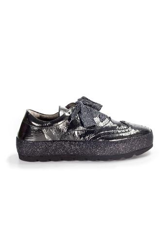 Shu Talk black XSA Stylish Oxford Patent Leather Sneakers Shoes E380ESHDC273E7GS_1