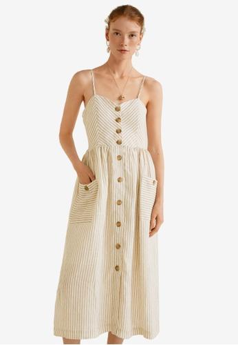 Mango beige Pockets Linen-Blend Dress 07826AA9938A6FGS_1