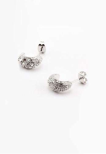 OUXI silver OUXI Snowy Earrings OU821AC33XHYMY_1