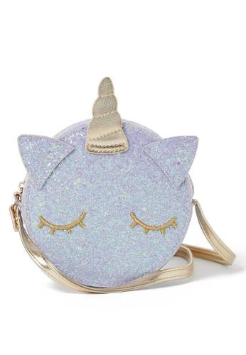 H&M purple and multi Glittery Shoulder Bag 1242BKCBE3BD6BGS_1