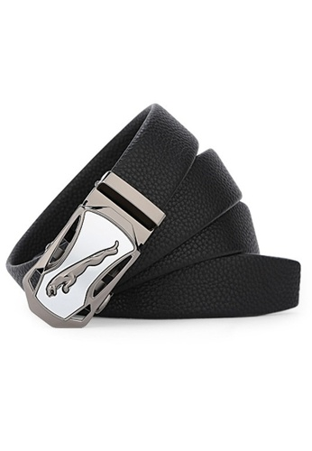 Jackbox Dante Premium Soft Leather Automatic Buckle Men's Belt 808 (White) JA762AC27QKAMY_1