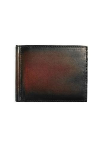 Crudo Leather Craft brown Raffinato Money Clip Wallet - Vintage Brown 27191ACA4173E0GS_1