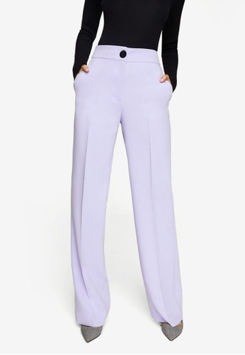 Mango purple High-Waist Palazzo Trousers 9E6B1AA06FABC8GS_1