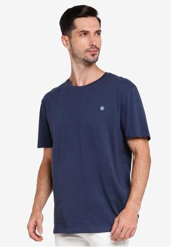 Springfield blue Essential Short-Sleeved T-Shirt 9A431AA96BFB6DGS_1