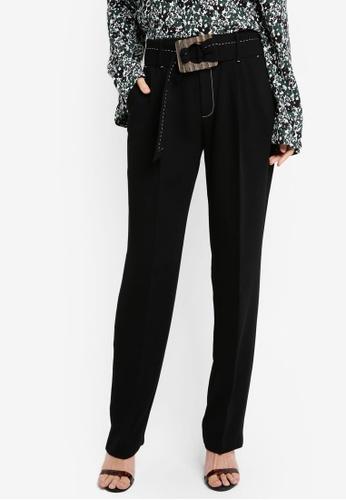 Mango black Contrast Seam Trousers MA193AA0T0XXMY_1