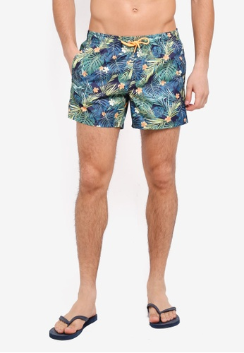 MANGO Man green Tropical Print Boardshorts 5640AAAFD912C3GS_1