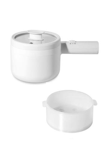 Maidronic [Msia Plug] Japan Design Minimalist Multifunction Electric Cooker 1.5L Capacity Fast Heating 700W Electric Cooking Pot Desktop Mini Hot Pot Portable Skillet 2E15BHLFC58D1BGS_1
