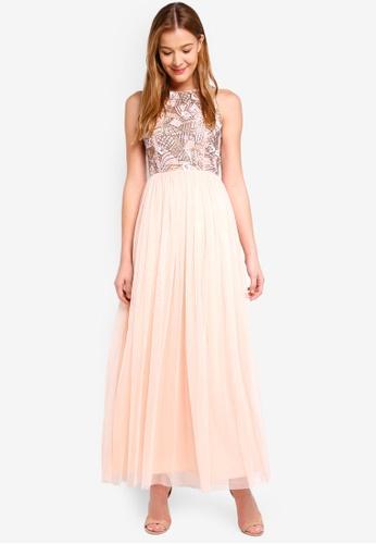 Angeleye pink Embellish Maxi Dress 63FA9AAB366F7EGS_1