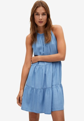 Mango blue Sleeveless Dress 0D144AAE8069BFGS_1
