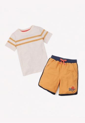 Gingersnaps multi Boys Stripe Tshirt And Shorts Set A7EABKAC27D2CAGS_1