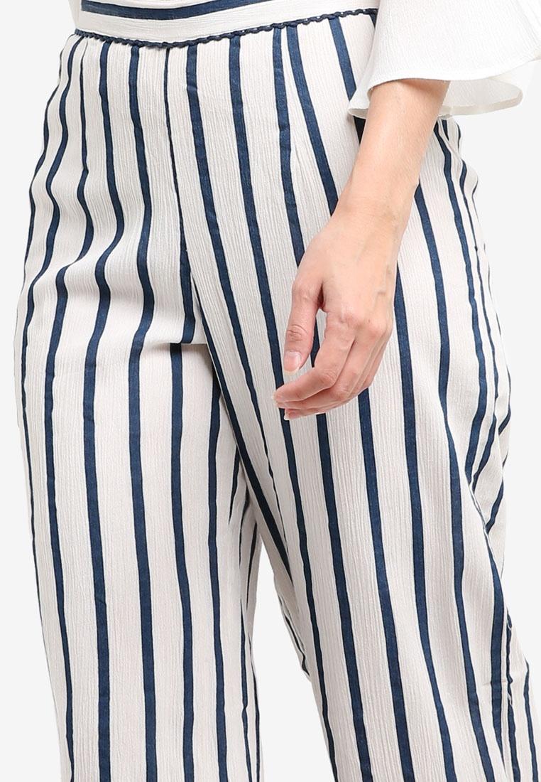 Blue Trousers Miss Culotte White Selfridge Stripe nqnHUvXz