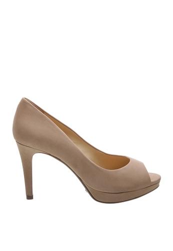 SCHUTZ 米褐色 SCHUTZ 露趾高跟鞋 - LARA (米色) D713ESH430667CGS_1