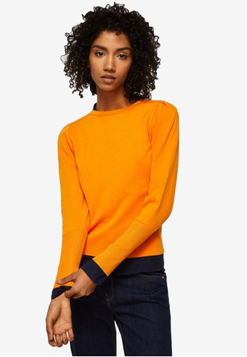 Mango orange Ribbed Detail Sweater 8BBD1AA456CAD8GS_1