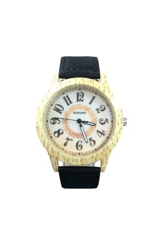 Sonsdo Women's Watch with Wood Texture Design