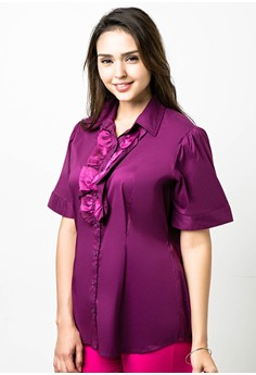 Plus Size Rhun Short Sleeves Blouse