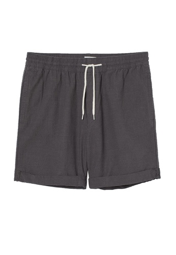 H&M grey Cotton Jogger Shorts A64AAAAF823F29GS_1