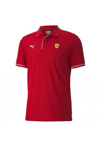 PUMA red Scuderia Ferrari Race Men's Polo Shirt 96D21AAC7E7114GS_1