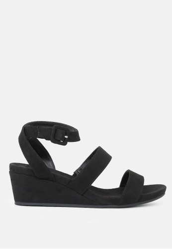 London Rag 黑色 楔形女式凉鞋 93C61SH3FA3F87GS_1