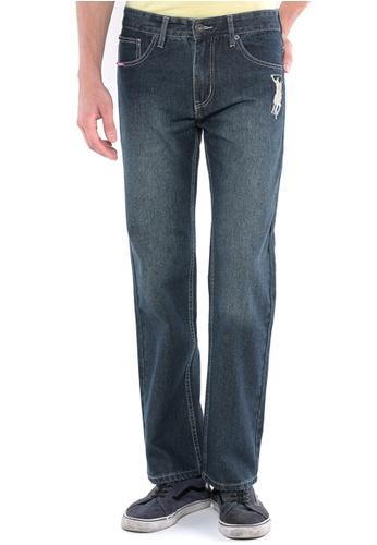 POLO HAUS blue Polo Haus - Straight Cut Long Jeans (Dark Blue) PO783AA89FRYMY_1
