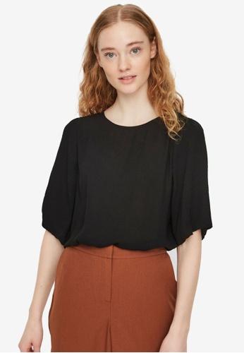 Vero Moda black Isabella Short Sleeve Top 0A81EAA1E1AD95GS_1