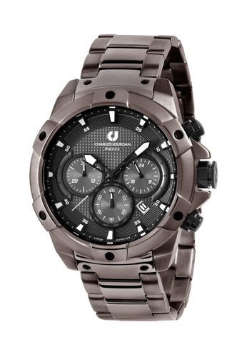 Charles Jourdan grey Charles Jourdan Men Watch Chronograph CJ1077-1742C 2E4C2ACC215FEEGS_1