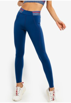 daa06dd730 LNDR blue and navy Marvel Elasticated Waist 8 8 Leggings 1AACCAA8410BECGS 1