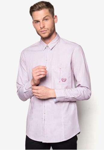縫線鈕門長袖襯衫, 服esprit台灣門市飾, 襯衫