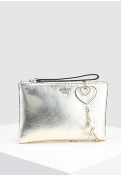 f78ccef66de 45% OFF Guess Lynda Crossbody Top Zip Clutch RM 359.00 NOW RM 197.90 Sizes  One Size