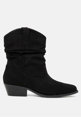 London Rag black Black Calf Length Western Boots SH1749 1434DSH5FFDF45GS_1